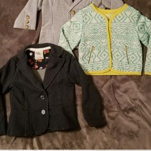Set of 2 Toddler Girl Blazer style Jackets 2T,&3T